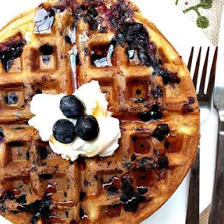 Rosewater Blueberry Waffles