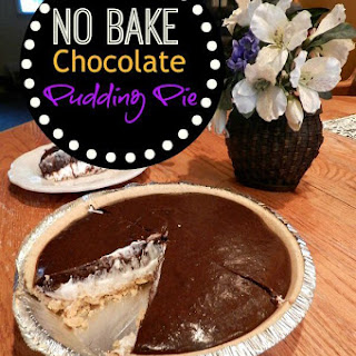 No Bake Chocolate Pudding Pie With Cream Cheese.