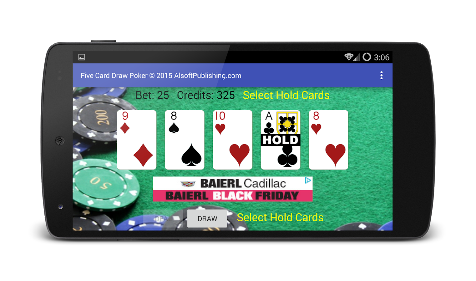 5 card draw poker