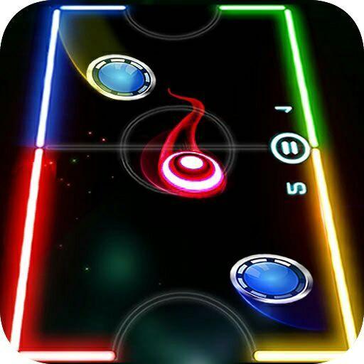 Glow Air Hockey 2 Players Online