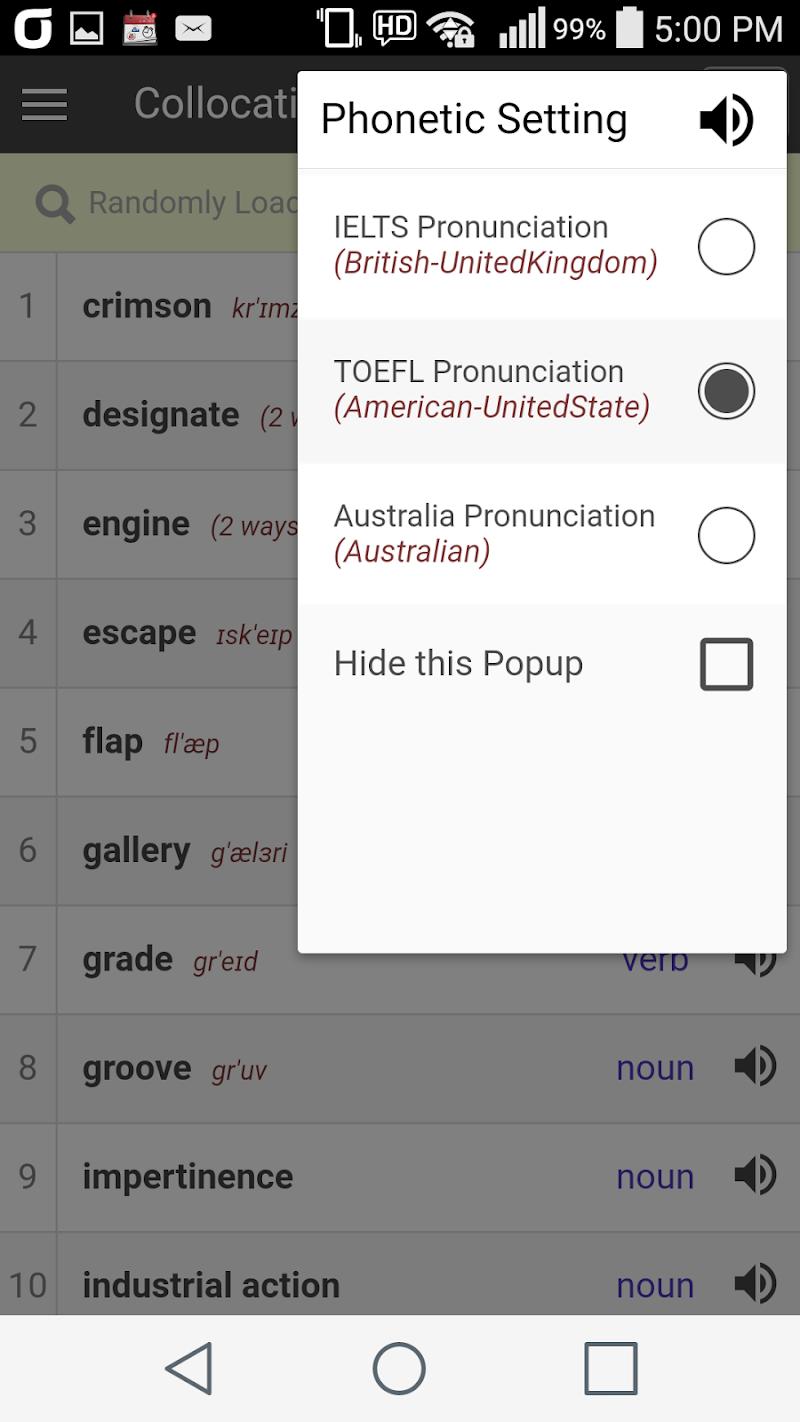 Collocation Dictionary Pro Screenshot 3