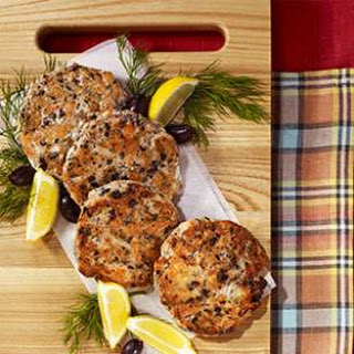 Salmon Cakes with Olives, Lemon & Dill