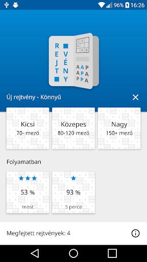 Rejtvu00e9nyApp - Keresztrejtvu00e9ny, Sudoku, Szu00f3keresu0151 1.2.4 screenshots 1