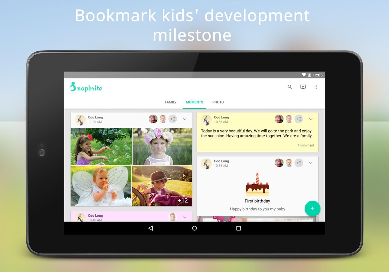 Snapbrite - Kid photo timeline- screenshot