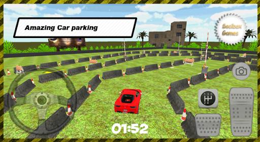 3Dスーパーカーの駐車場