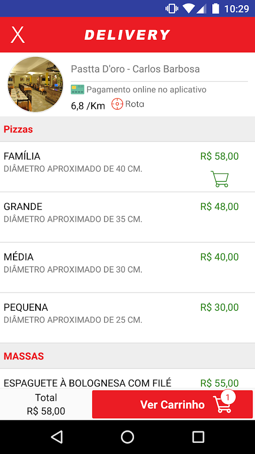 Pastta D'oro Pizzaria- screenshot