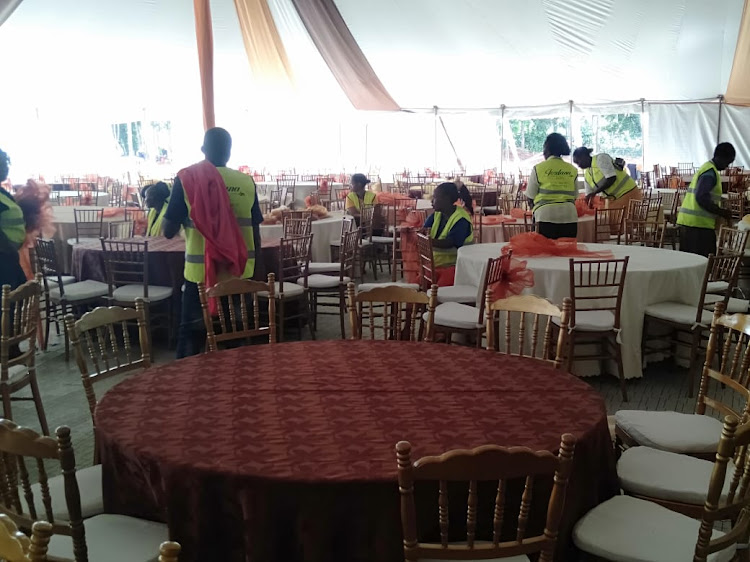 Ongoing preparations ahead of the wedding