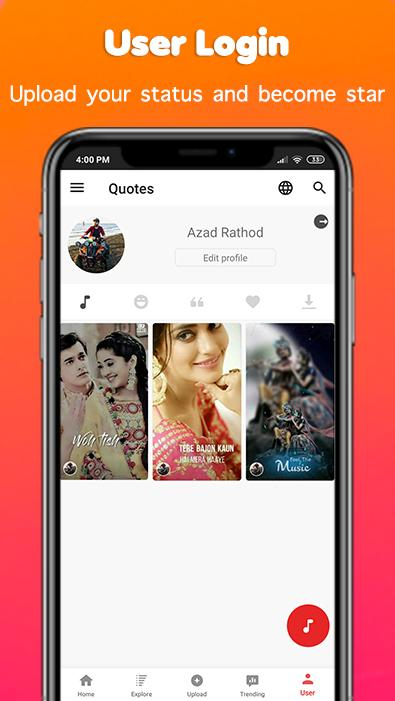 Full Screen Video Status For Whatsapp Vidfog Android