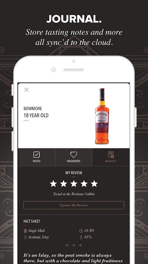 Whisky Journal- screenshot