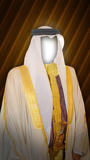 阿拉伯男人時尚照片蒙太奇