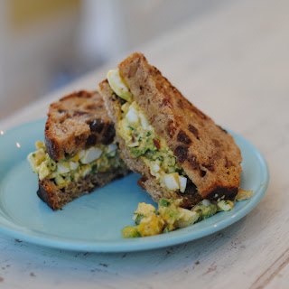 Curried Egg Salad with Cilantro, Shallots, and Raisins