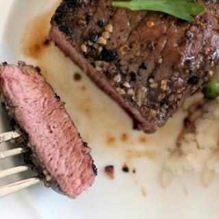 Cast Iron Skillet Grilled Steaks.