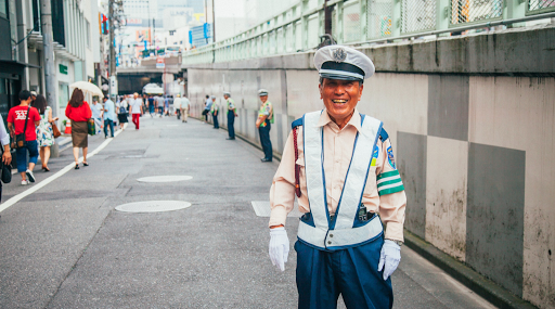 japonais circulation travail sourire rue