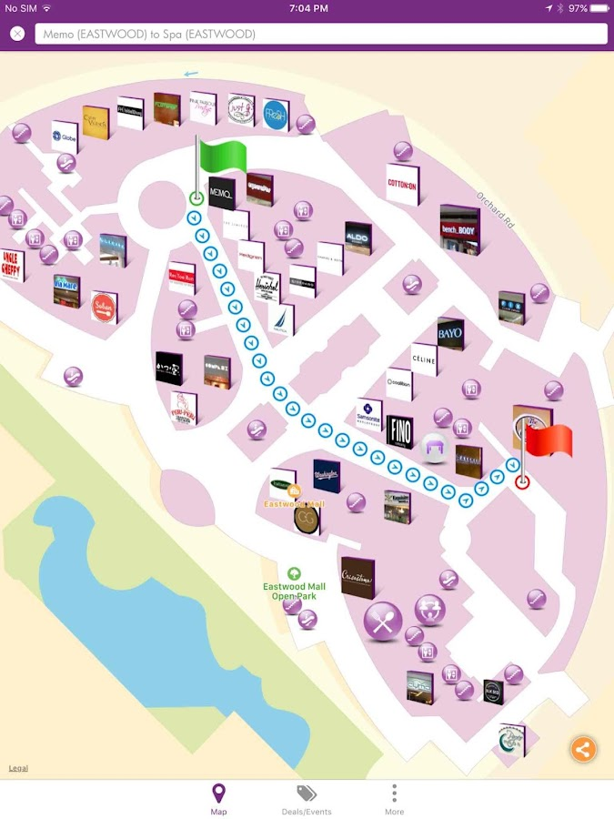 InMapz maps for malls, airport- screenshot