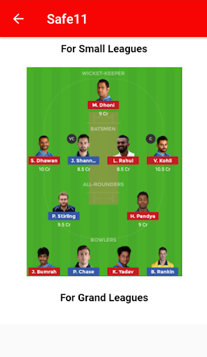 Try11 - Dream11 Predictions Cricket & Football 1.1 screenshots 2