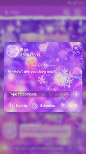 GO SMS COLORFUL WINTER THEME - náhled