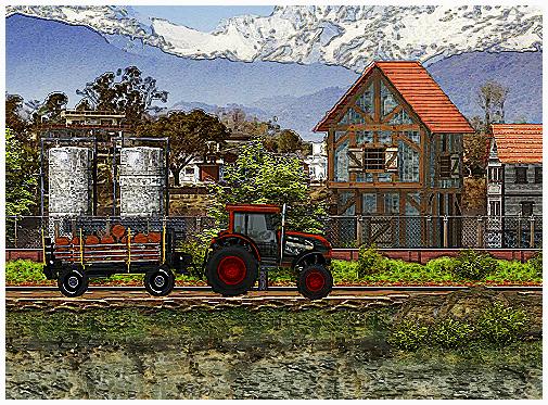Farm Tractor Driver Game