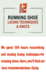 72006a91bc35 Running Shoe Lacing Techniques – Apps on Google Play