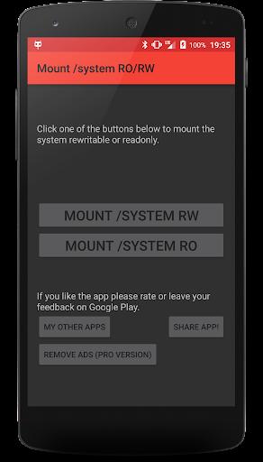 Mount system RO RW [ROOT]