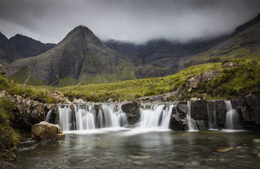 The Fairy Pools are a natural waterfall in Glen Brittle on the Isle of Skye in Scotland.