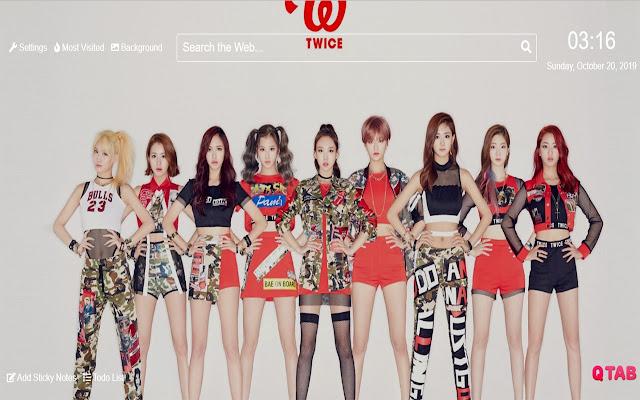 Twice kpop Wallpaper New Tab Theme