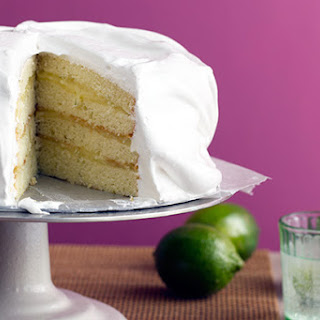 Key Lime Meringue Cake