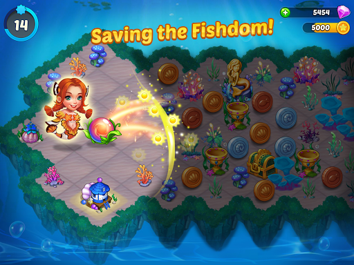 Merge Mermaids-design home&create magic fish life. 1.0.2 screenshots 7
