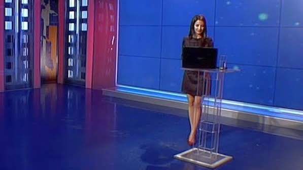 This gorgeous news anchor will keep you glued to your display