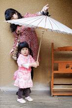 Photo: Oil-paper umbrella 旅館外面貼心的放了日本式的油紙傘