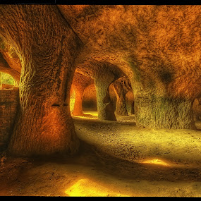Pusté kostely caves by Petr Klingr - Landscapes Caves & Formations ( sand, mystery, hdr, rock, cave,  )