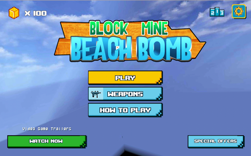 Block Mine Beach Bomb