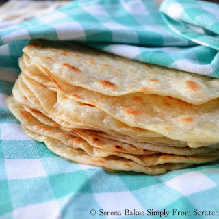 Homemade Soft Flour Tortillas.