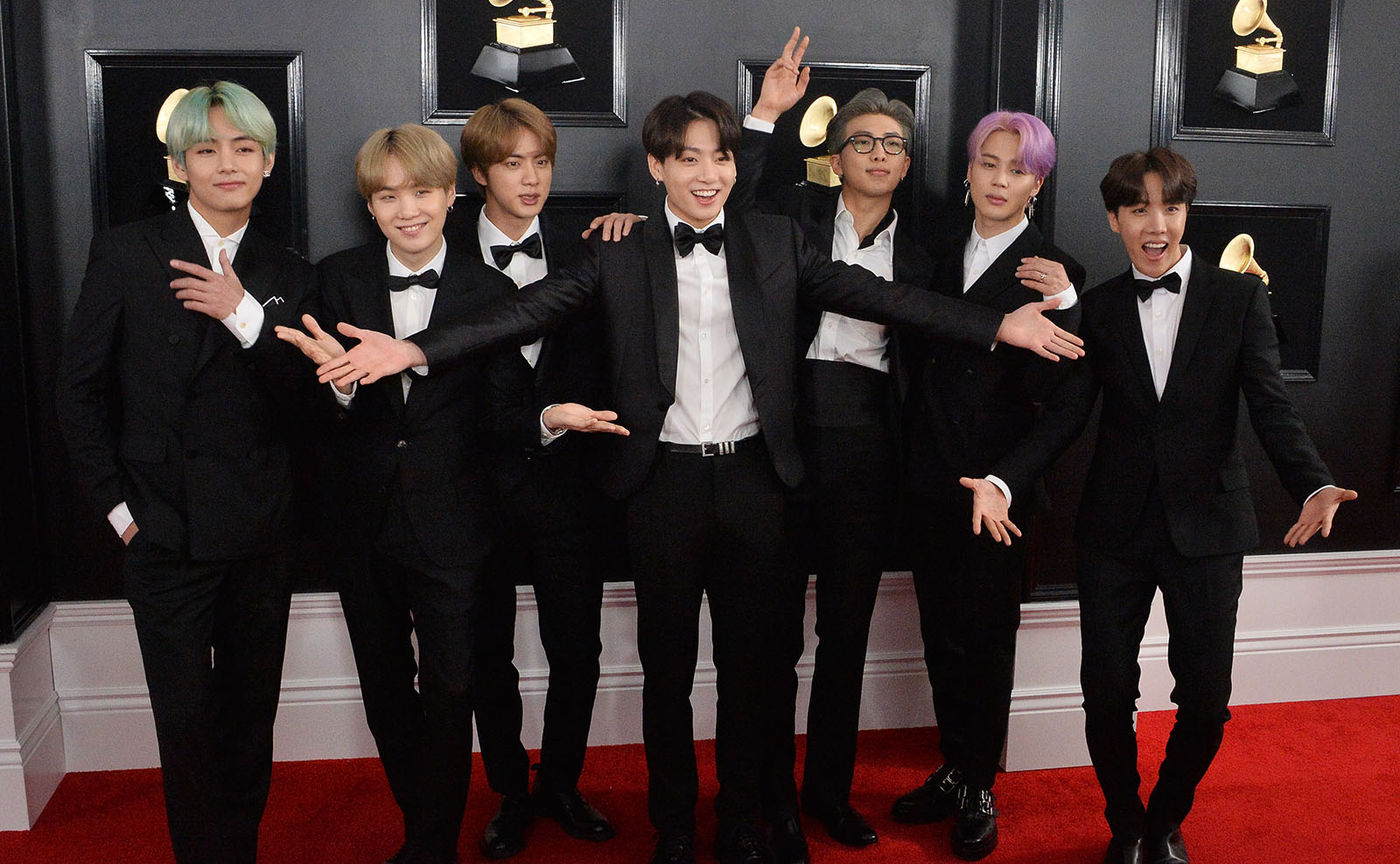 BTS arrives for the 61st Grammy Awards in Los Angeles
