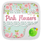 Pink Flowers GO Keyboard Theme