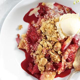 Raspberry Pear Crumble.