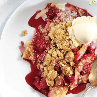 Raspberry Pear Crumble.