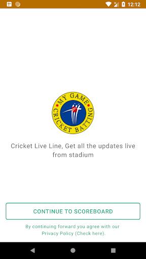 Cricket Line, Live score update screenshots 3