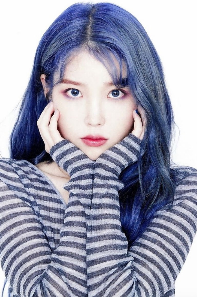 Image result for iu blue hair