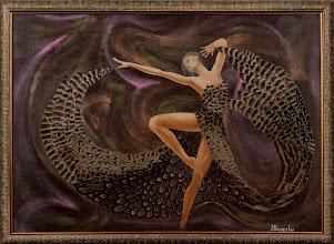 Photo: Антон Погарский-Балерина-холст на ДВП масло перья-50х70