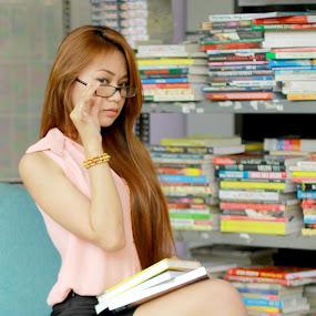 My Library by Havidz Zhurrahman - People Fashion ( fashion, college, library, women )