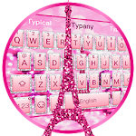 Pink Eiffel Tower Keyboard Icon