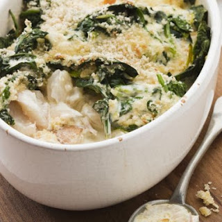 Haddock and Spinach Bake.