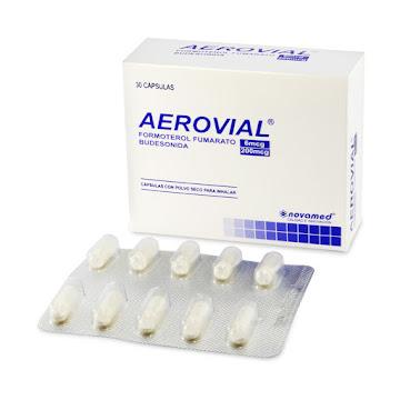 Aerovial 6/200mcg  Cápsulas Caja x30Cap No contiene Inha. Novamed Formoterol Budesonida