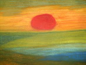 Photo: Ilma on joskus autereinen ja aurinko soikea, Pastellimaalaus 2010