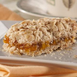 Crunchy Oat Apricot Bars.