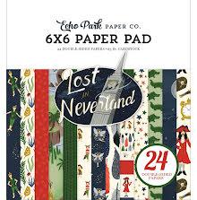 Echo Park 6x6 Paper Pad - Lost in Neverland UTGÅENDE