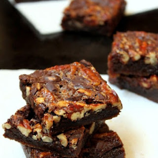 Chewy, Chocolaty Pecan Pie Brownie Bars