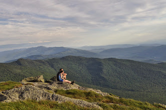 Photo: Couple enjoying the view, Camel's Hump State Park