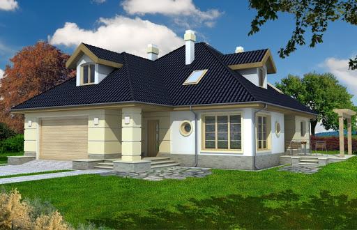 projekt Aksamit wersja A z podwójnym garażem