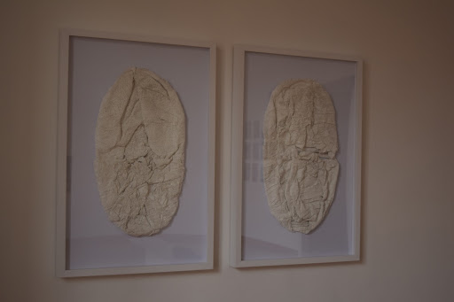 The Egg in plaster framed